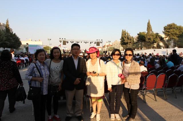 요르단 교회 연합집회 참석