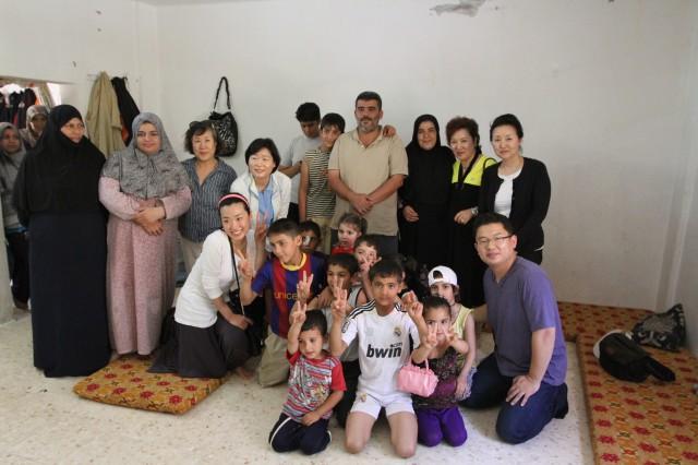 시리아 난민 가정 방문