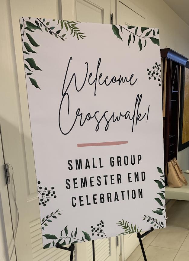 EM Crosswalk Semester End Celebration