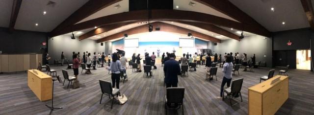 예배당 예배 재개 (2020.07.12)